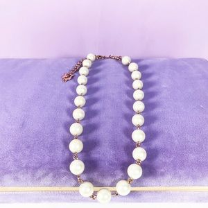 Juicy Couture gold linked White pearl necklace